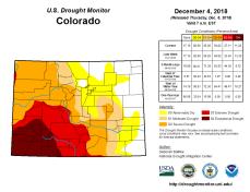 Colorado Drought Monitor December 4, 2018