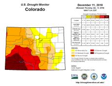 Colorado Drought Monitor December 11, 2018.