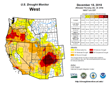 West Drought Monitor December 18, 2018.
