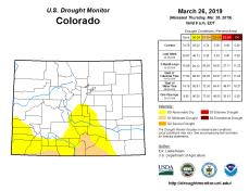 Colorado Drought Monitor March 26, 2019.