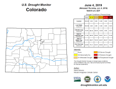 Colorado Drought Monitor June 4, 2019.