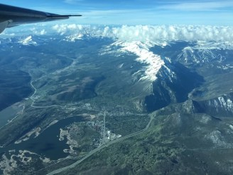 A flight from NASA's Airborne Snow Observatory gathers data about the snowpack above Dillon Reservoir on a flight. Information gathered from the flight helped Denver Water manage reservoir operations. Photo courtesy of Quantum Spatial