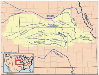 Kansas River Basin including the Republican River watershed. Map credit: By Kmusser - Self-made, based on USGS data., CC BY-SA 3.0, https://commons.wikimedia.org/w/index.php?curid=4390886