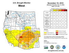West Drought Monitor November 19, 2019.