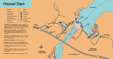 Hoover Dam schematic via the Bureau of Reclamation.