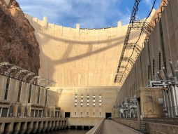 Operation of the Colorado River's second largest reservoir, Lake Powell in southern Utah and northern Arizona, will be a major piece of negotiations on the river set to start next December. Hoover Dam from the deck of the Arizona power plant December 13, 2019.
