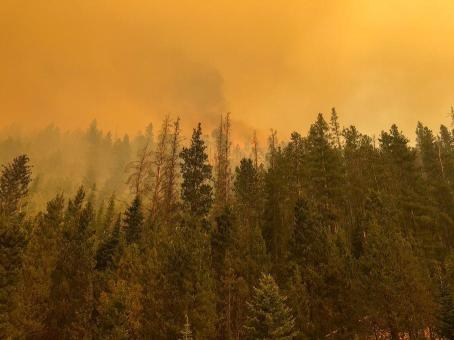 The Cameron Peak fire soon after it started on Aug. 13, 2020. By Sept. 11, the fire had grown to more than 102,000 acres (now >200,000 acres) and was not expected to be considered out until Oct. 31. Photo credit: InciWeb via The Colorado Sun