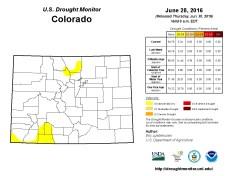 Colorado Drought Monitor June 28, 2016.