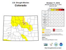 Colorado Drought Monitor October 11, 2016.