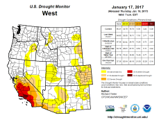 West Drought Monitor January 17, 2017.
