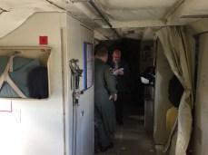 Interior of the aircraft aft, February 17, 2017, SnowEx.