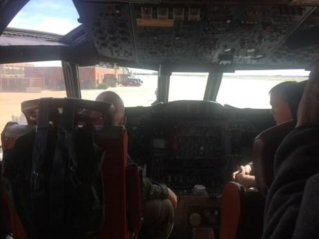 Cockpit of the SnowEx aircraft February 17, 2017.