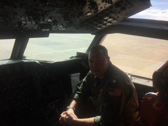 Navigator SnowEx aircraft crew February 17, 2017.