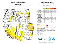 West Drought Monitor February 14, 2017.