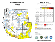 West Drought Monitor April 18, 2017.