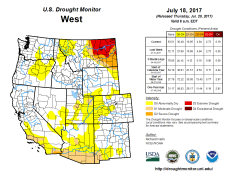 West Drought Monitor July 18 2017.