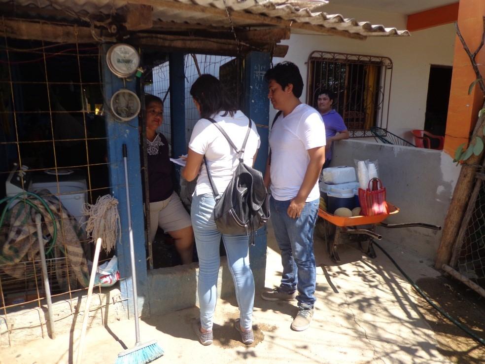 Censo poblacional en la comunidad de El Bejuco, Coyuca de Benítez