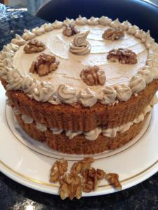 coffee cake, coffee and walnute cake, sponge cake, coffee essence, cakes