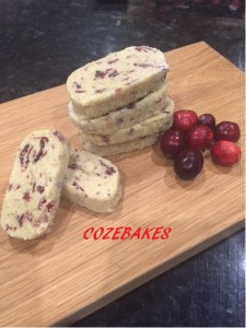shortbread, shortbread cookies, orange cranberry cookies, simple shortbread recipe, cozebakes