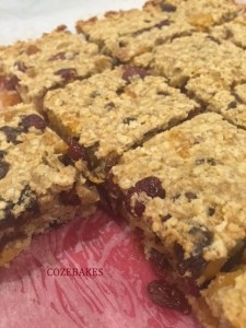 flapjacks, sugar free flapjacks, healthy flapjack recipe, cozebakes, no added sugar flapjacks, fruit flapjacks