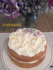 victoria sponge cake, lemon sponge cake, lemon victoria sponge cake, mary berry recipe, cozebakes, celebration cake, party cake, birthday cake