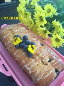 blueberry lemon honey cake, loaf cake, cozebakes, simple cake recipe, baking, tea time treats, afternoon tea