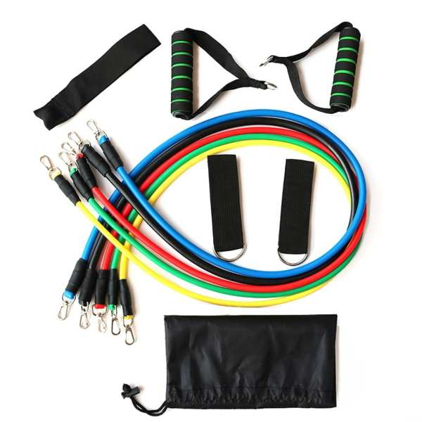 Resistance Bands 11 Piece Set Multifunctional Muscle Yoga Training Rope Strength Training Resistance Belt Fitness Puller