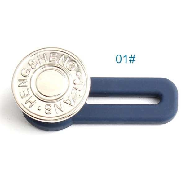 Retractable Waist Button Free Nail Detachable Adjustment Buckle Jeans Waist Extension Buckle Pants Button 3Pcs
