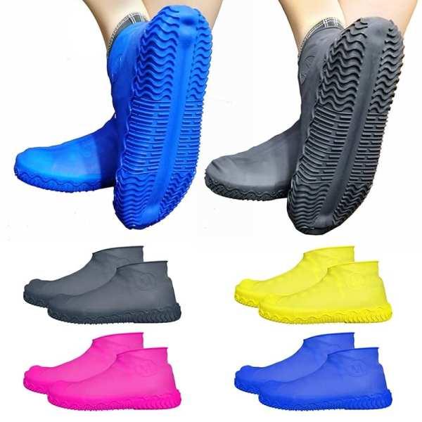 Silicone Overshoes Reusable Waterproof Rainproof Men Shoes Covers Rain Boots Non slip Washable Unisex Wear Resistant