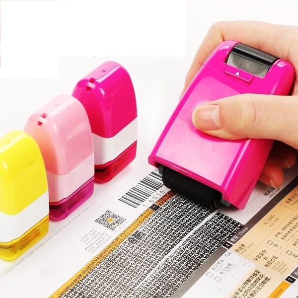 1Pcs Self Inking Identity Theft Protection Roller Stamp Personal Information Privacy Security Seal Refill