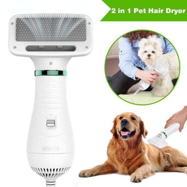 2 In 1 Pet Grooming Dog Hair Dryer Pet Hair Grooming Comb Noise Reduction Fur Blower