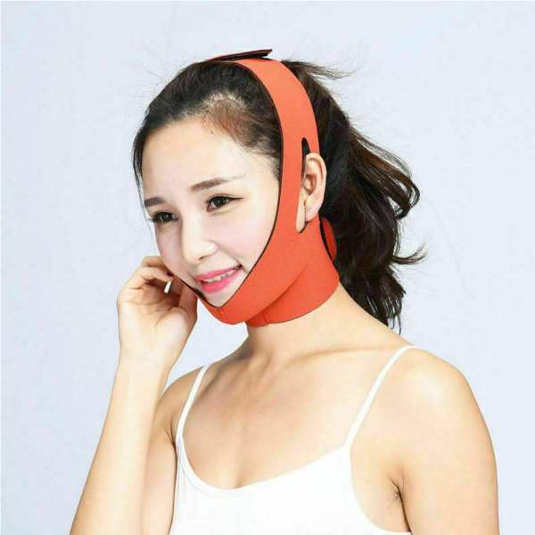 Facial Thin Face Slimming Bandage Mask Strap Band V Face Line Belt Shape Lift Reduce Double