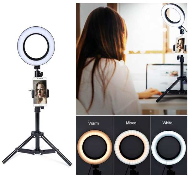 LED Selfie Ring Light Selfie Brightness Adjustable for Video Live And Selfie Photography Equipment Women s