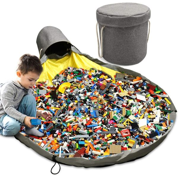 Toy Storage Basket Large Play Mat Toy Clean up Storage Container Quick Cleanup Waterproof Container For