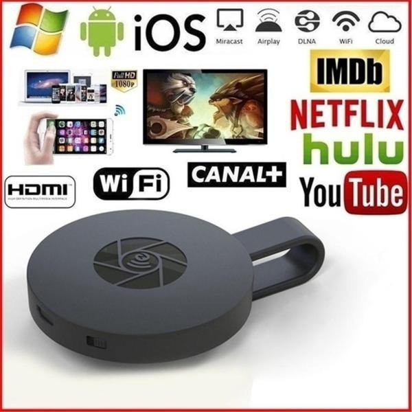 WiFi Wireless Display Dongle HDMI Adapter Portable TV Receiver 2 4G WiFi 1080P Airplay Dongle Mirroring
