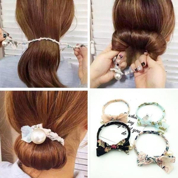 Woman Donuts Bud Head Band Ball French Twist Magic DIY Tool Hair Bun Maker Sweet Dish