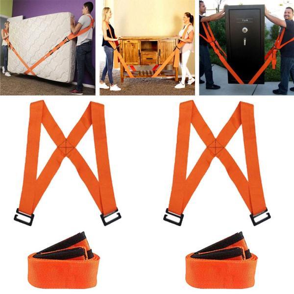 2Pcs Labor saving Furniture Moving Shoulder Back Straps Ropes Forklift Lifting Moving Strap Transport Belt Wrist