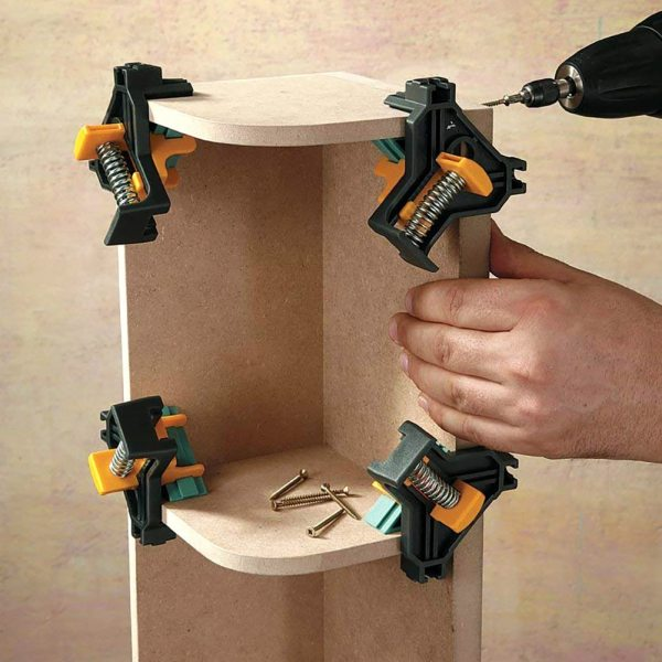 90 Degree Right Angle Clamp Fixing Clips Picture Frame Corner Clamp Woodworking Hand Tool furniture repaire