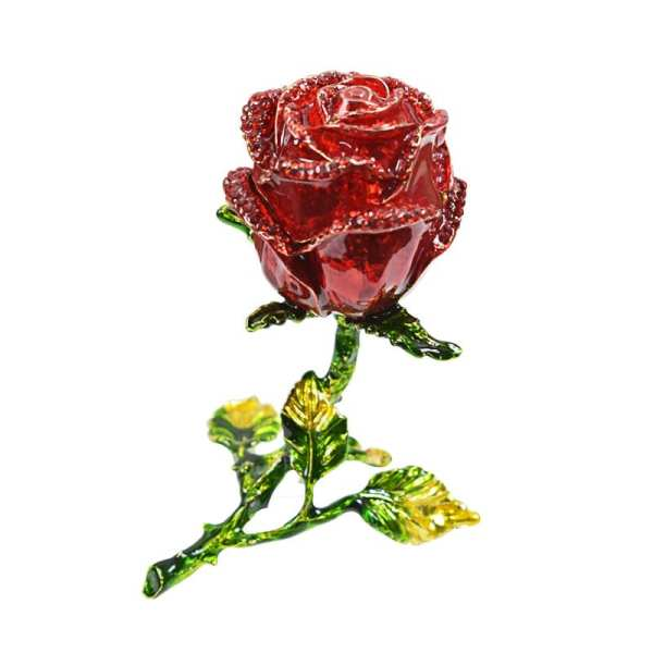 European Rose Wedding Creative Little Princess Jewelry Earrings Ring Necklace Bracelet Box True Love Rose