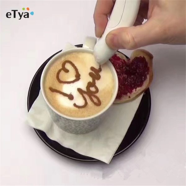Hot sale Electrical Latte Art Pen for Coffee Cake Spice Pen Cake Decoration Pen Coffee Carving