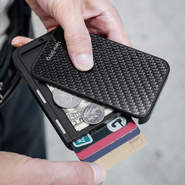 New Bring ID Card Holder Case Card Holder Men Purse Carbon Fiber Minimalist Rfid Wallet for