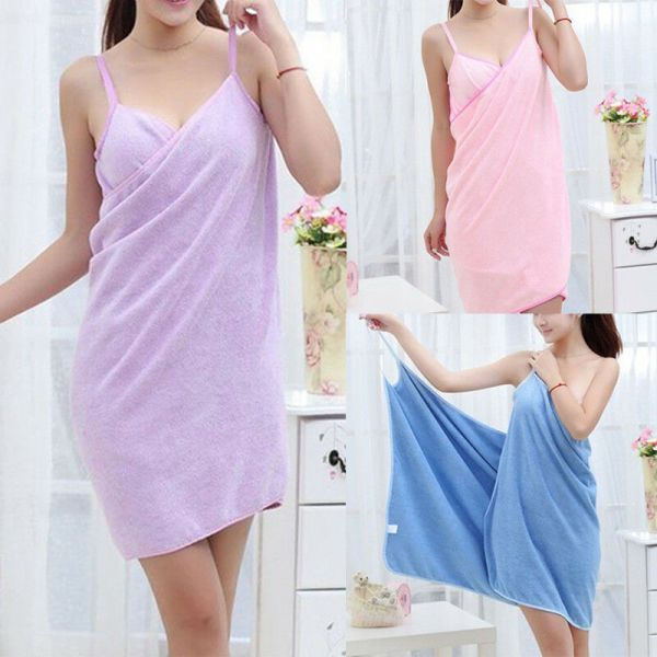 New Women Robes Bath Wearable Towel Dress Girls Women Womens Lady Fast Drying Beach Spa Magical