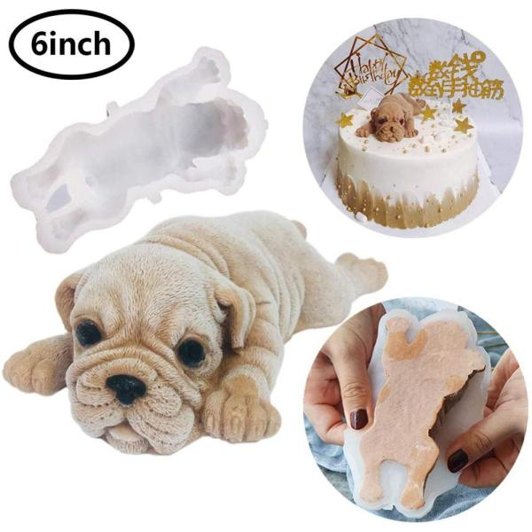 Silicone Mold for Dog Pretty Mousse Cake 3D Shar Pei Mold Ice Cream Jelly Pudding Blast