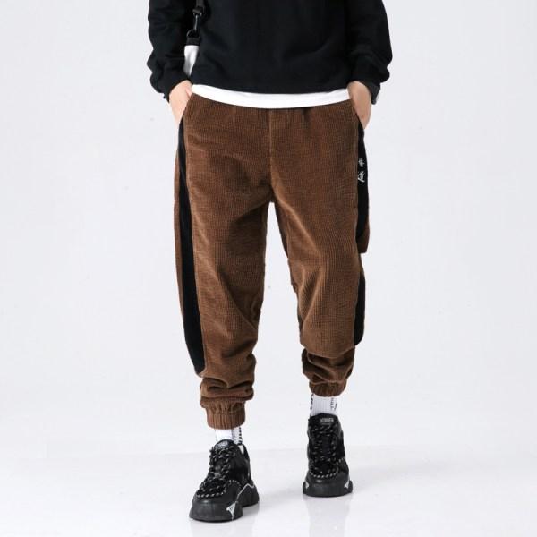 Cotton Pants Men 2020 Winter Warm Harem Pants Drawstring Chinese Style Male Trouser Hip Hop Jogger