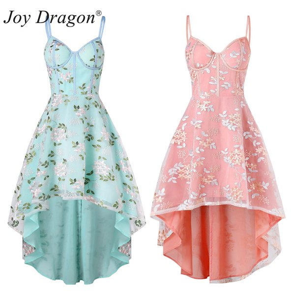 Summer Clothes for Women Floral Skater Dress Desigual Backless Bayan Elbise Lace Dresses Vestido Mujer Verano