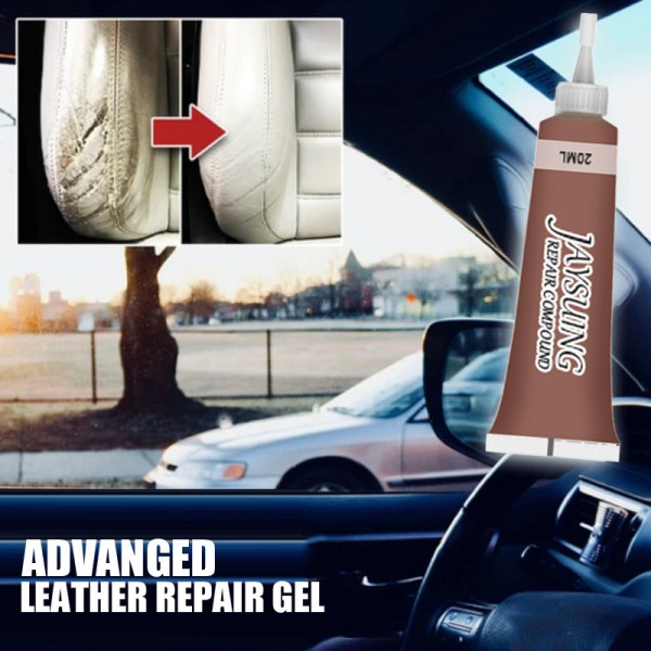 Advanced Leather Repair Gel Car Seat Home Leather Complementary Color Repair Paste 20ml Refurbish Leather No