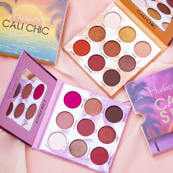 Nude Eye Shadow Beauty Palette Makeup Kit 9 Colors Matte Shimmer Glitter Eyeshadow Powder Waterproof Pigmented