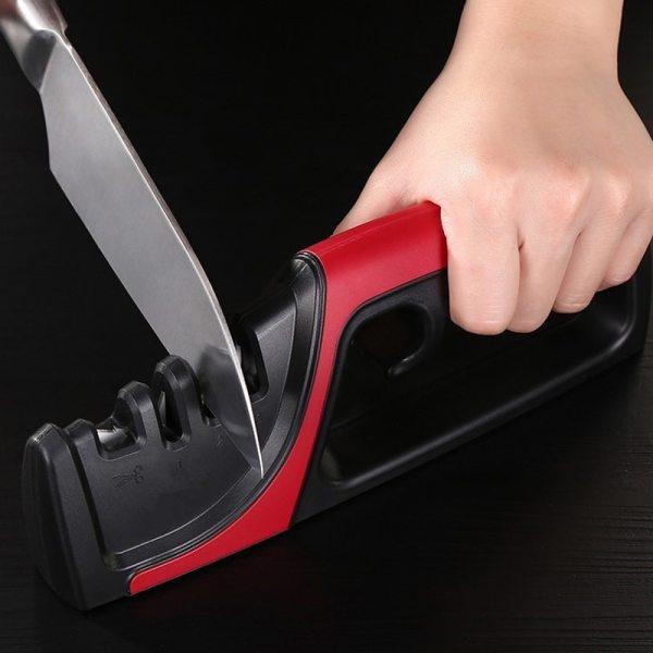 Fixed Angle Knife Sharpener Manual Fast Sharpening Multi function Kitchen Knives Sharpening Grindstone Grinder Stone Tools