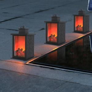 LED Flame Lantern Lamps Simulated Fireplace LED Flame Lamps Flame Effect Light Bulb AA Battery Courtyard 2