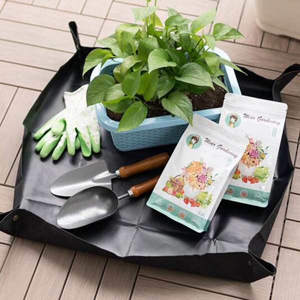 Lock Waterproof Anti Dirty Thicken Basin Cushion Mix Soil Flower Land Mat Gardening Pad Reusable Transplanting